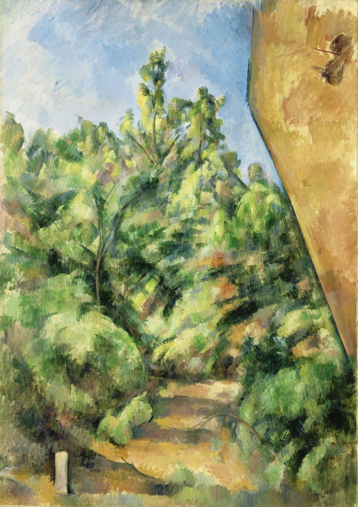 Cezanne, Paul: The Red Rock. Fine Art Print/Poster. Sizes: A4/A3/A2/A1 (004228)